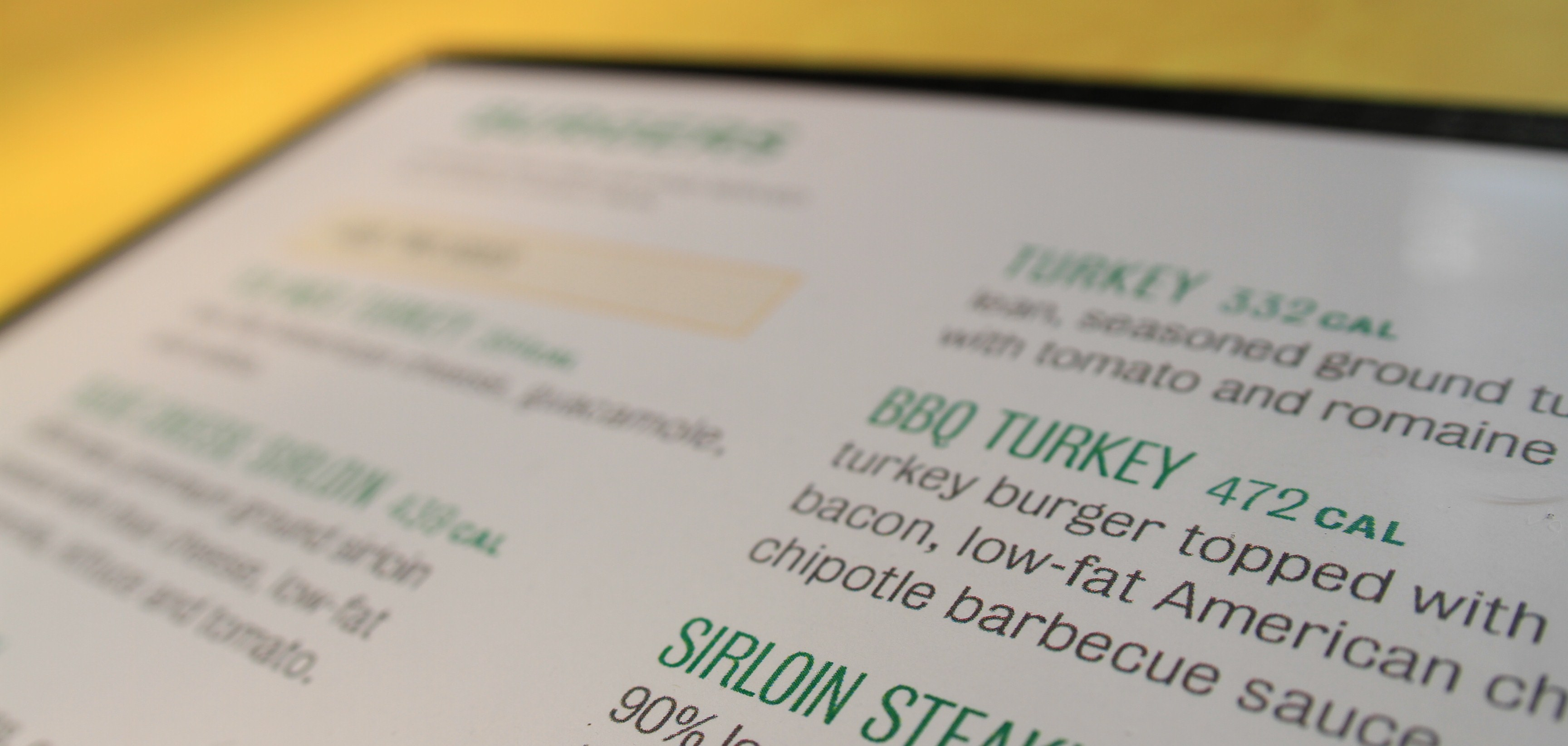 Menu Labeling Calories for Restaurants